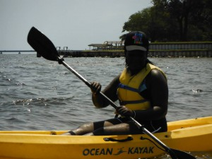4-Hers still enjoy swimming and kayaking in the Choctawhatchee Bay. Photo provided by Jackson County 4-H.