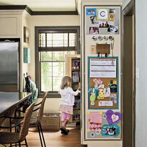 Home Command Center idea from SouthernLiving.com