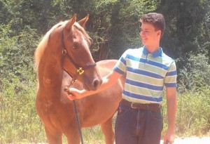 Justin and his horse, Trey.