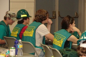 4-H Teens learn how to respond to emergencies as well as careers related to emergency management and safety through the CERT program.  Leon County Extension photo.