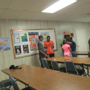 Counselors practices leadership skills by leading teambuilding activities at robotics day camps