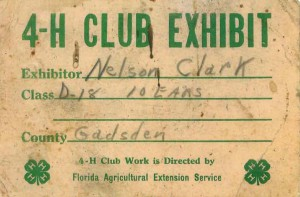 Angel still has her father's 4-H exhibit card for corn he grew and exhibited at the fair. circa 1956