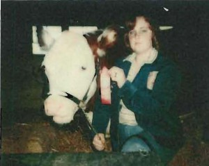 Angel (Clark) Granger showing her steer in Gadsden County, igniting a lifelong passion for 4-H.
