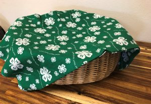 basket covered with a cloth