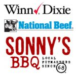 Winn Dixie, National Beef and Sonny's logos