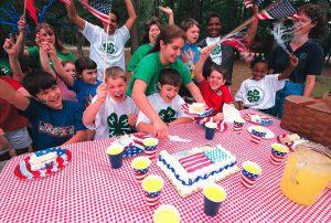 4-H Kids at a 4th of July Picnic.