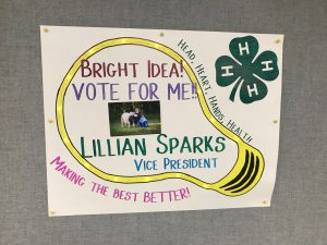 4-H officer campaign sign