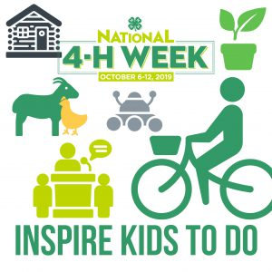 National 4-H Week's theme is Inspire Kids to Do.