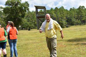 Ken Gooding on the range