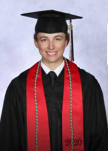 Male youth in cap and gown