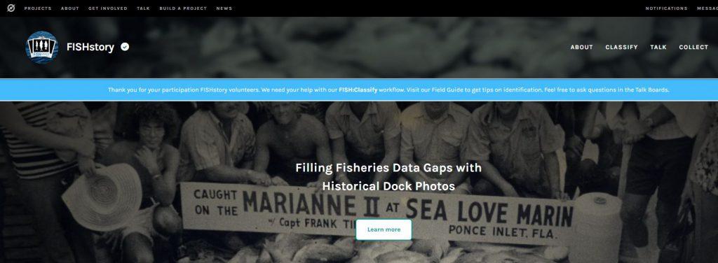 Image of Fishstory website