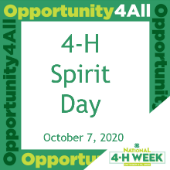 image showing 4-H Spirit Day OCtober 7, 2020