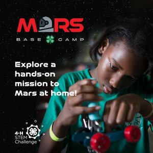 Youth exploring 4-H STEM Challenge-Mars Base Camp Challenge
