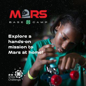 Youth exploring 4-H STEM Challenge-Mars Base Camp Challenge