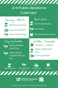 4-H Public Relations Calendar