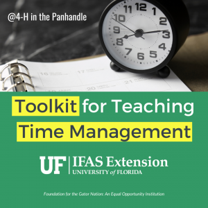 Toolkit for teaching time management picture of a clock and schedule