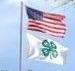 photo of American and 4-H Flag