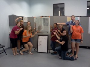 Tyndall teens and staff training to teach NSD Material