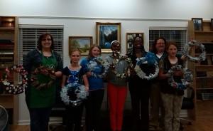 4-H Club members showcase their grapevine wreaths