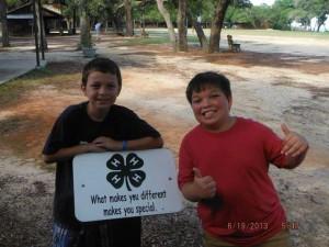 Boys at camp