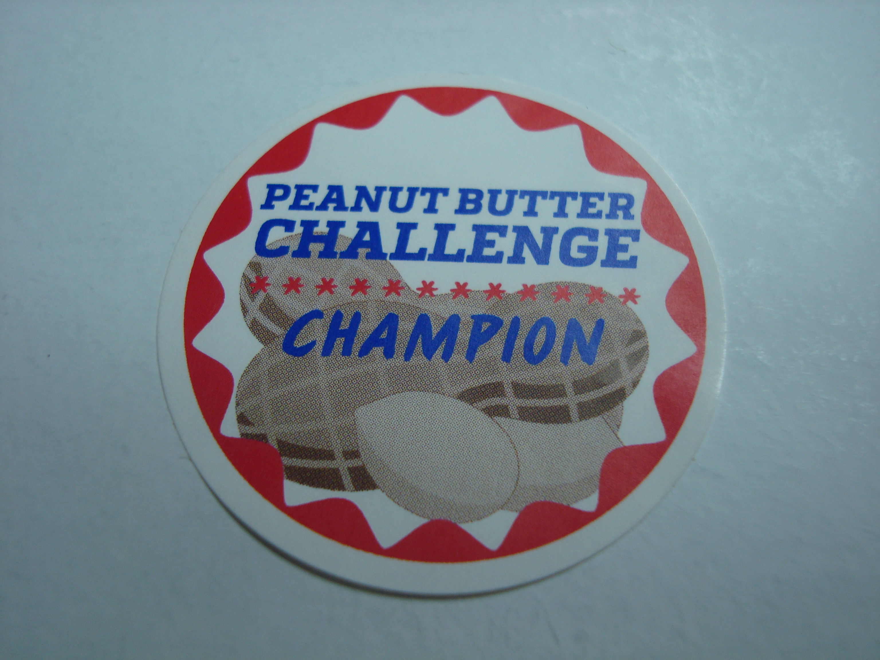 Peanut Butter Challenge Champion