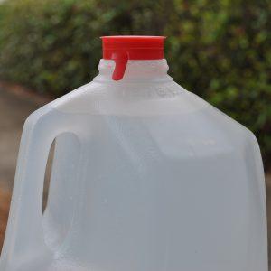 Gallon jug of water.