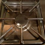 Clean gas stove top