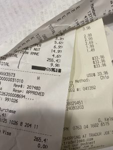 black and white receipts