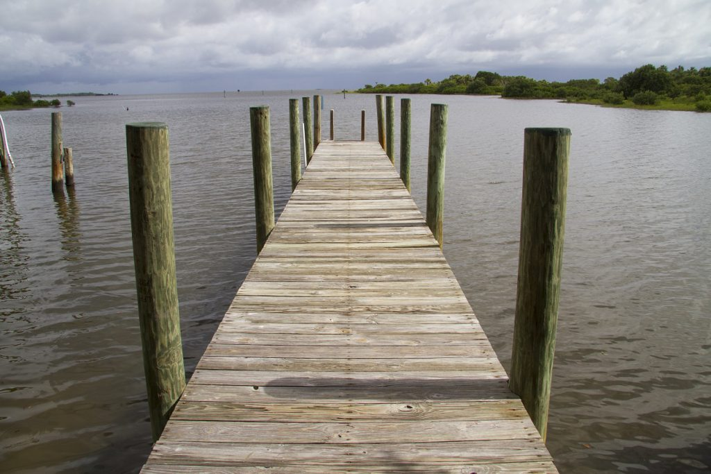 A dock and pier at Seahorse Key.