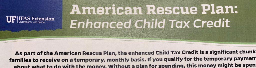 American Rescue Plan: Enhanced Child Tax Credit
