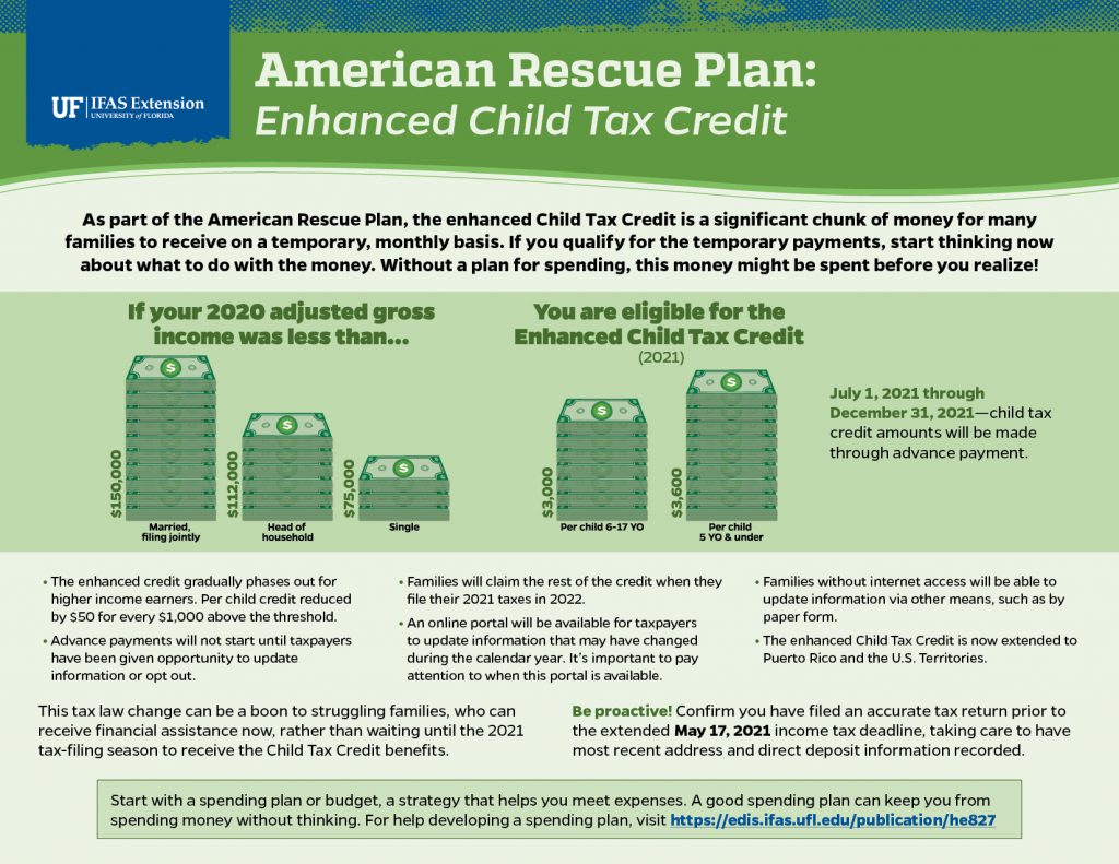 Leon County Child Tax Credit Infographic