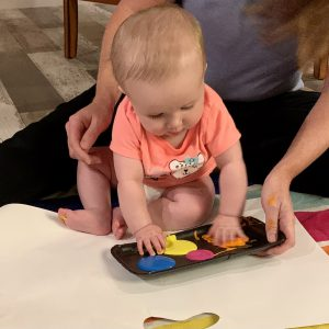 Baby fingerpainting