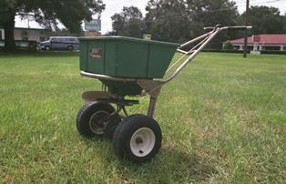 Fertilizer Spreader: Image Courtesy UF / IFAS Extension FYN Program