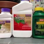 horticultural oil and neem oil bottles