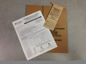 Soil test kit available form your local Extension office. Photo: Mary Derrick, UF/IFAS.