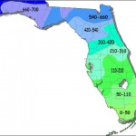 Florida Average Chill Hours Map