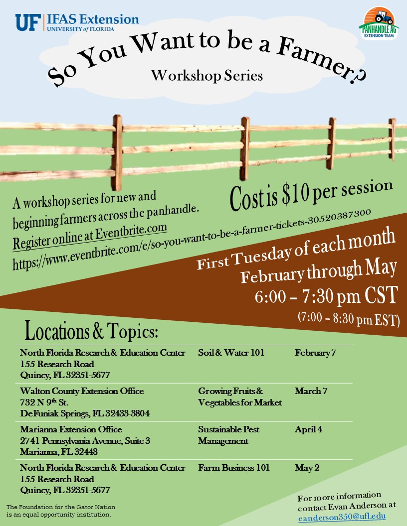 So You Want to be a Farmer? Workshop Series