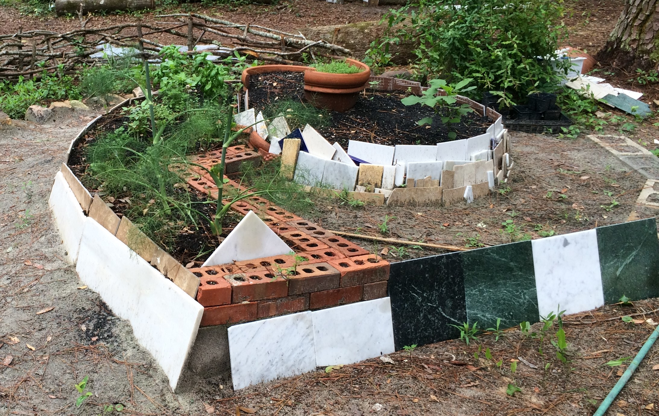 Although Wood Is Most Por You Can Use Materials Such As Concrete Bricks Or Tiles To Build A Raised Bed Photo By Molly Jameson