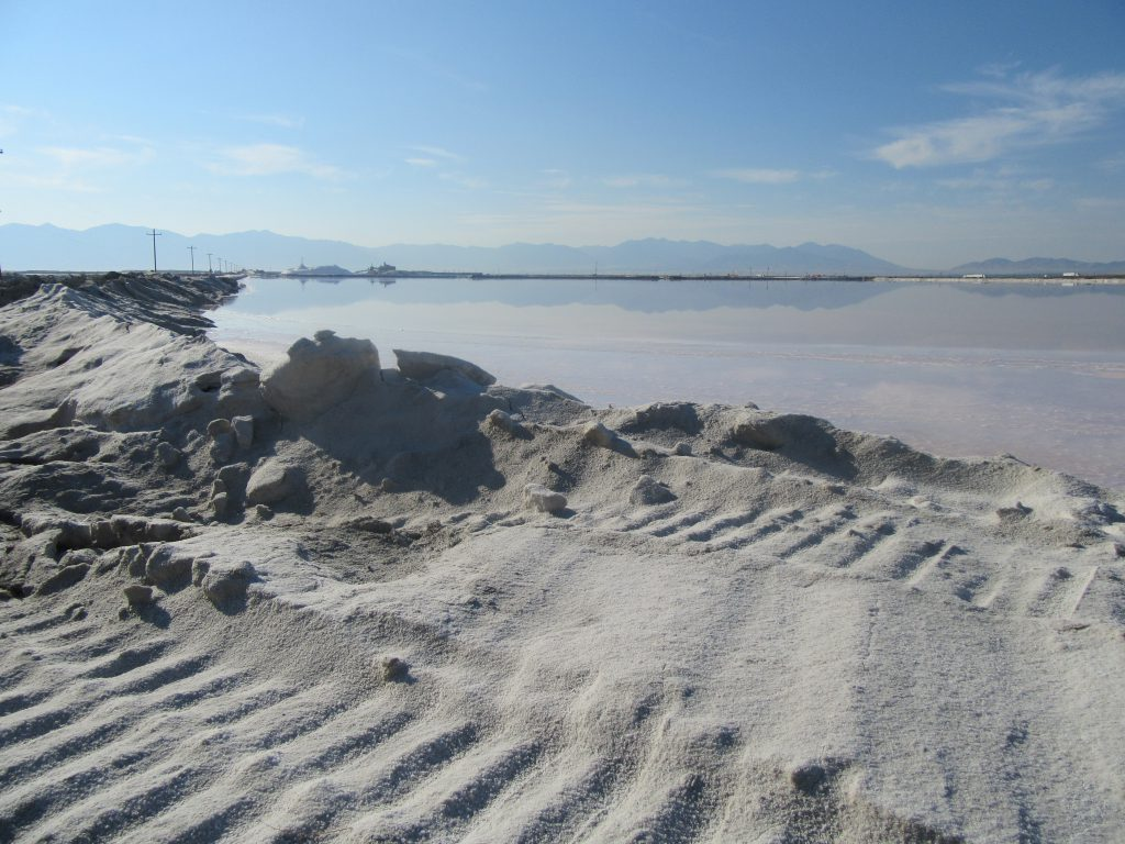 A salt factory in Utah.