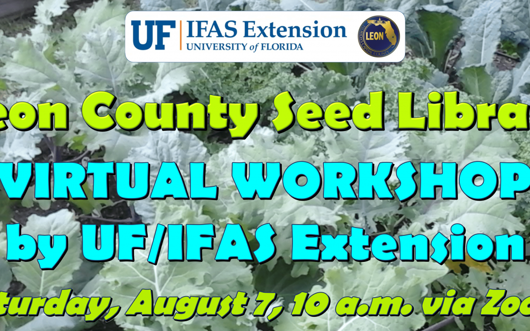 Join Us August 7 for the 2021 Leon County Seed Library Virtual Workshop