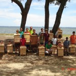 These 4-H campers built bat houses to provide shelter for bats in their neighborhoods