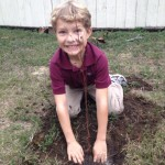 Planting a tree is an excellent way to insure clean air and water in the future.  Photo credit: Carrie Stevenson