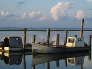 Oyster Boats on Apalachicola Bay Photo by Erik Lovestrand, UF/IFAS Franklin County Extension Director