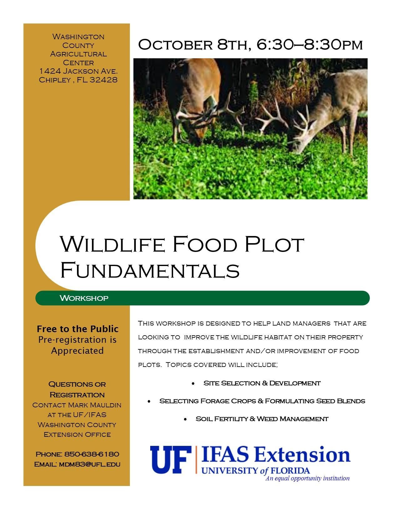 Food Plot 15 Flyer