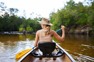 Paddling Blackwater River. Photo: Adventures Unlimited