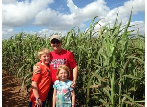 Corn and sorghum mazes are great family fun in October. Photo credit: Carrie Stevenson