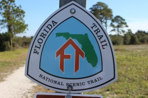 The Florida Trail extends (in sections) over 1,300 miles from Ft. Pickens to the Florida Everglades. It begins at this point.
