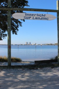 The paddleboard entry to Little Sabine can be found next to the Pensacola Beach Marina.