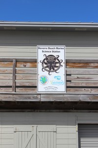 Navarre beach marine science station sign