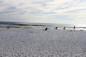 Residents enjoying the beach at one of the public access points on Eglin property.